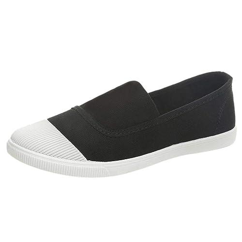 Loafer Mocasines de Lona Mujer, Zapatos Plataforma Flat Casual Slip-On Single Shoes Sneakers para Oficina y Uso Diario: Amazon.es: Zapatos y complementos