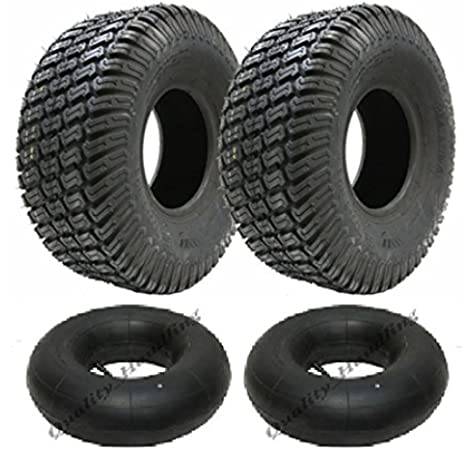 Conjunto de dos alta calidad, neumáticos y tubos resistentes del cortacésped. Tallas 15x6.00-6: Amazon.es: Coche y moto