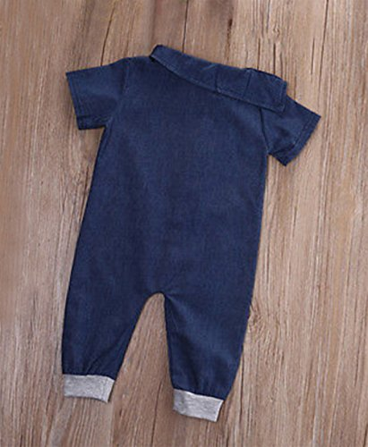 Stylesilove Infant Toddler Stylish Blue Jean Baby Overall Romper