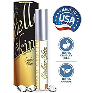 Natural Eyelash Growth Serum – Potent Ingredients Strengthen & Enhance Your Brows and Lashes, Advanced Apple Stem Cell Technology is Best Enhancer to Grow Fuller, Longer Eyelashes. Made in the USA.