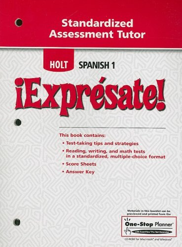 ¡Exprésate!-Standardized-Assessment-Tutor-Levels-1A/1B/1