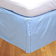 Relaxare Cal Queen 800TC High Quality 100% Egyptian Cotton Light Blue Solid 1PCs Box Pleated Bedskirt Solid (Drop Length: 22 inches) - Ultra Soft Breathable Premium Fabric