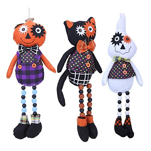 GreenSun TM 45cm Stuffed Pumpkin Skull Ghost Cat Dolls Innovative Cartoon Plush Toys Halloween Trick Whimsy Standing Doll for Chidlren (Ghost Noises For Halloween)