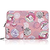 Arvok 15 15.6 16 Inch Canvas Fabric Laptop Sleeve With Extra Bag/Notebook Computer Case/Ultrabook Tablet Briefcase Carrying Bag/Pouch Cover For MacBook /Acer/Asus/Dell/Lenovo/ Samsung, Romantic Pink