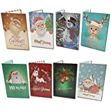 8 Packs DIY Christmas Greeting Cards,5D Diamond Painting Santa Claus by Number Kits Creative Arts Craft Cards (Christmas Cards)