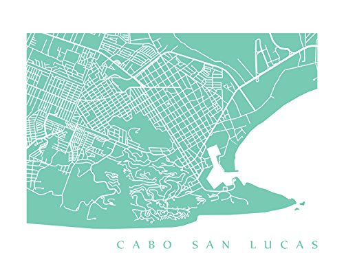 Amazon.com: Cabo San Lucas Map Print: Handmade