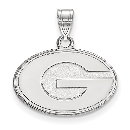 Jewelry Stores Network University of Georgia Bulldogs School Letter Logo Pendant in Sterling Silver S - (12 mm x 19 - Jewelry Pendant Silver Logo Sterling