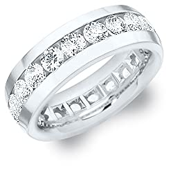 4 CTTW Men's Diamond Eternity Ring in Platinum (4.0 cttw, G-H Color, SI1-SI2 Clarity)
