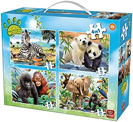 King Animal World 4in1 Puzzle Puzzle - Rompecabezas (Puzzle ...