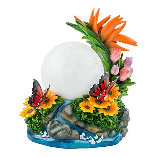 - Butterfly with Flowers 100mm Resin 3D Water Globe Plays Tune You are My Sunshine