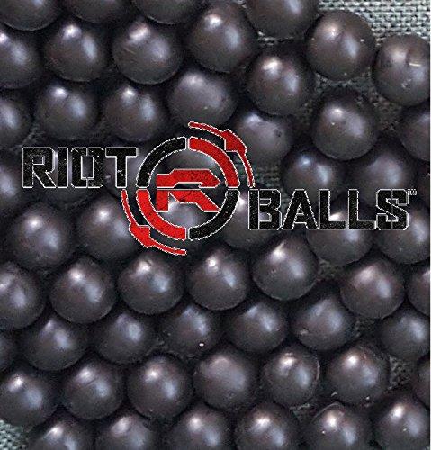 Riot Balls 100 X 0.68 Cal. Black PVC/Nylon Self Defense Less Lethal Practice Paintball by Riot Balls
