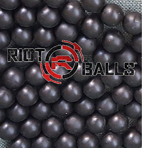 Reusable Target Balls (Re-Usable Training Foam Rubber balls 68cal Tac Balls Paintballs - 500 Rounds Black)