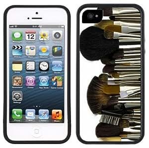 Makeup Artist Brushes Handmade iPhone 5 Black Bumper Plastic Case