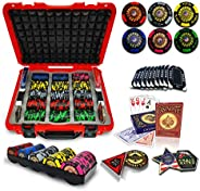 casinoite Golden Dragon Poker Chip Set Without Denominaiton 300/500   43mm Casino Chip   10 Plaques, Red Hard