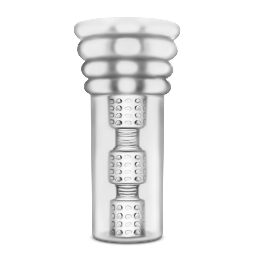 Eden Soft Textured Male Masturbator - Soft Stroker Suction - Great Couples Play - Sex Toy for Men (Clear)