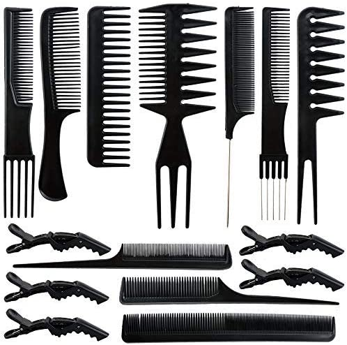 Wpxmer 10 PCS Hair Stylists Professional Styling Comb,5 Pcs Styling Hair Clips for All Hair Types & [並行輸入品]