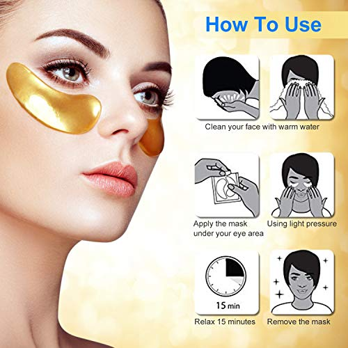 51HCngf23uL - 30 Pairs under eye patches, Summer Rainbow eye mask, Under Eye Bags Treatment, Dark Circles Under Eye Treatment, 24K Gold Eye Treatment Masks Anti-Aging for Reducing Dark Circles Puffiness Wrinkles.