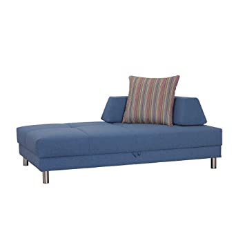 Sofa Recamiere In Blau 200 Cm Breit Tiefe 120 Cm Pharao24 Amazon De