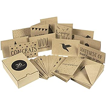 Amazon all occasion sassy greeting cards assortment 48 cards 36 pack assorted all occasion kraft greeting cards includes assorted happy birthday congratulations sympathy thank you cards bulk box set variety m4hsunfo