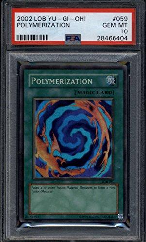 Polymerization #LOB-059 Ultra Rare Foil POP 3 PSA 10 GEM MINT Yugioh Legend Blue Eyes