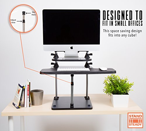 Uptrak Standing Desk By Stand Steady Dual Level Black