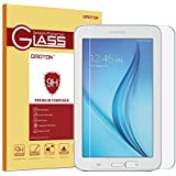OMOTON Galaxy Tab E Lite 7.0 / Tab 3 Lite 7.0 Glass Screen Protector, Tempered-Glass Protector with [9H Hardness] [Crystal Clear] [Scratch-Resistant] [Bubble Free Easy Installation]