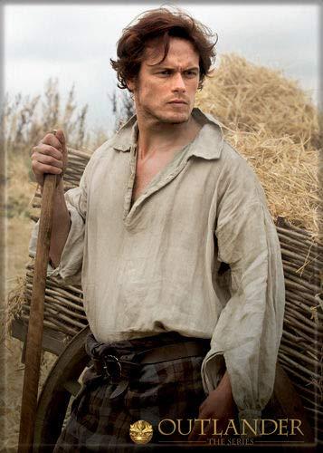 Sam Heughan 2.5 inch x 3.5 inch Licensed MAGNET Outlander RETIRED hay in background ()