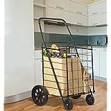 Extra Large Heavy Duty Folding Shopping Grocery Storage Cart Jumbo Size