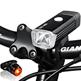 Night Eyes Bright Bike Light Set-300Lumens USB Rechargeable Bike Light+ USB Rechargeable Aluminum Bike Taillight -Perfect Bike Light Set for All Bike, Easy to Install, NoTool Required.