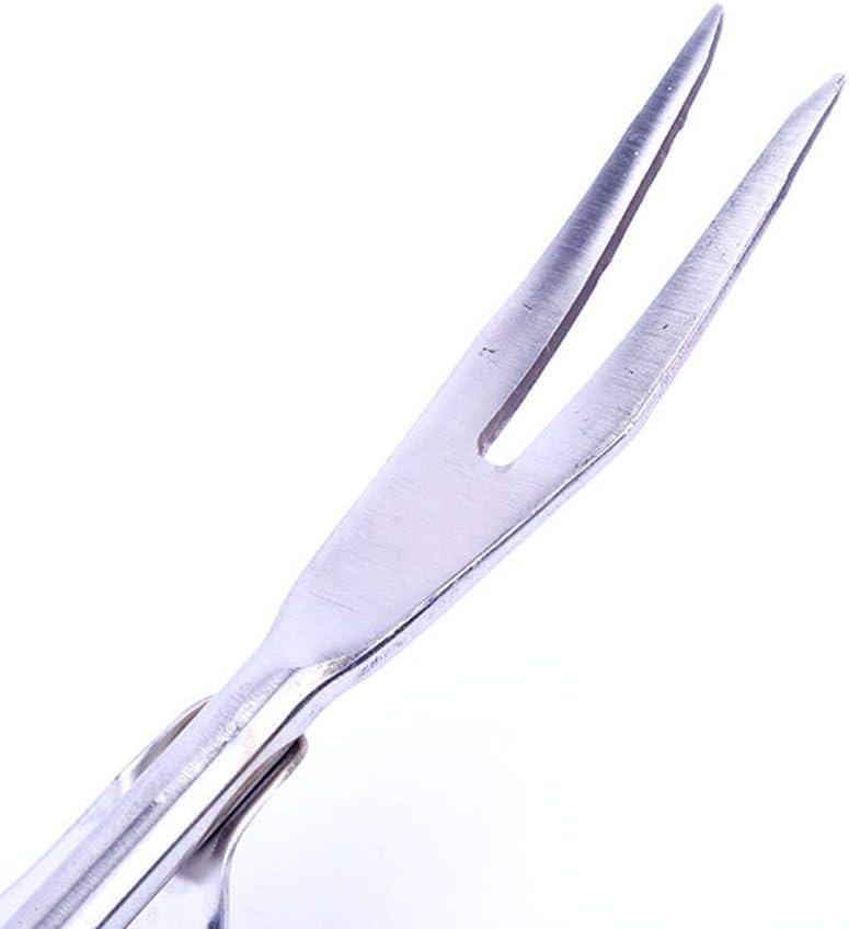 Yardwe Unkrautstecher Garten Hand Weeder Gartengabel Trimmwerkzeuge Gartenwerkzeug f/ür Terrasse Garten Silber