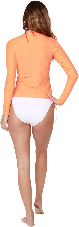 INGEAR Womens UV Sun Protection Long Sleeve Rash Guard Wetsuit Swimsuit Top