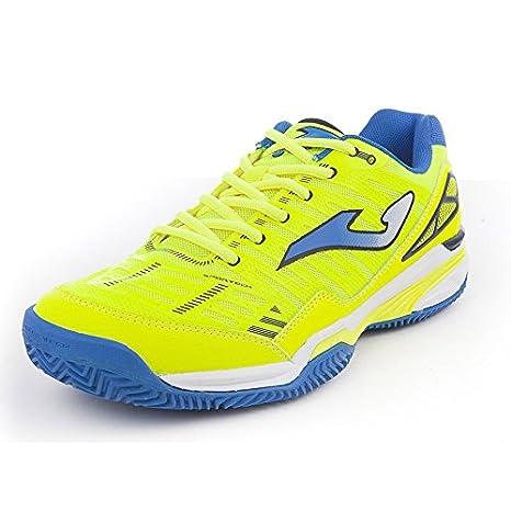 Joma Zapatilla Padel Slam Limon Fluor Clay Talla 44 EUR: Amazon.es: Deportes y aire libre