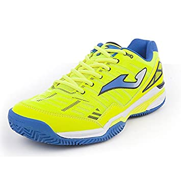 Joma Zapatilla Padel Slam Limon Fluor Clay Talla 42 EUR: Amazon.es ...