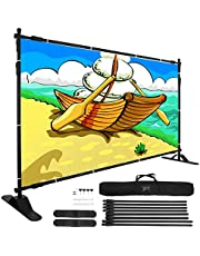 VEVOR 8X 8 Ft - 10 x 8 Ft Backdrop Banner Stand Newest Step and Repeat for Trade Show Wall Exhibitor Photo Booth Background Adjustable Telescopic Height and Width