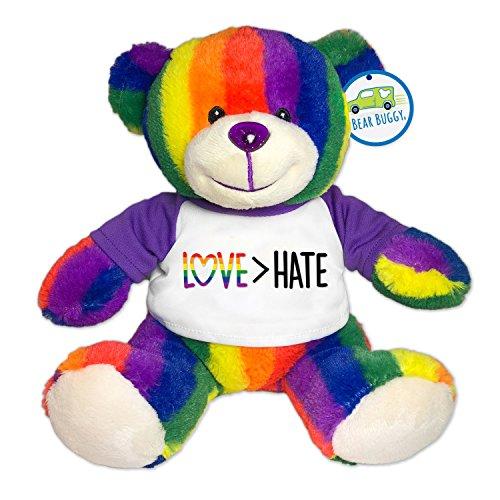 Totally Pride Teddy Bear, Love > Hate by RGU -