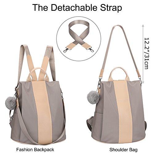 SAMSHOWME Women Backpack Purse shoulder Bag Nylon Waterproof Anti-theft School Bags for Girls