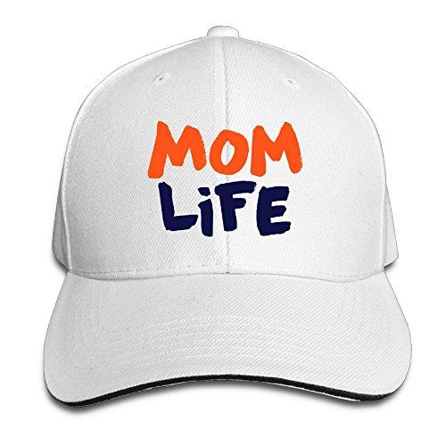 KJDS Adult Unisex Mom Life Sandwich Caps with Adjustable Washed Cap Sandwich Baseball Hat for Men's& Women ()