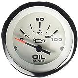 "Sierra International 65498P Lido 0 to 100 Psi Dial Range Scratch Resistant Electric Oil Pressure Gauge, 2"""