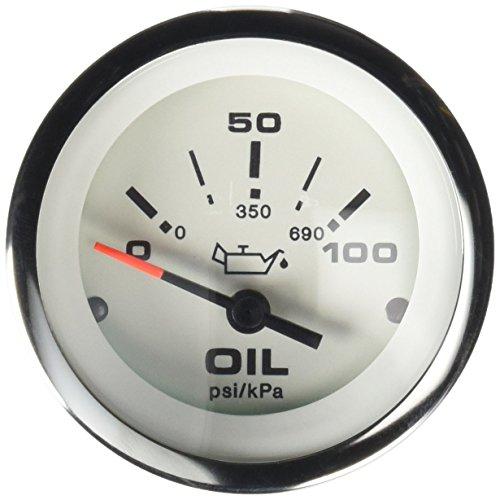Sierra International 65498P Lido 0 to 100 Psi Dial Range Scratch Resistant Electric Oil Pressure Gauge, 2