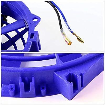 "DNA Motoring RAF-10-BL+FMK-X2 Blue 2Pcs 10"" Inch Electric Radiator Cooling Fan kit: Automotive"