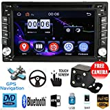 "FidgetFidget Car Stereo DVD CD MP5 Player iPod Radio USB +Camera GPS Navigation 2 Din 6.2"" HD"