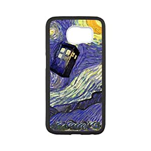 Doctor Who Tardis Police Call Blue Box Starry Night Art Pattern Case For Samsung Galaxy S6