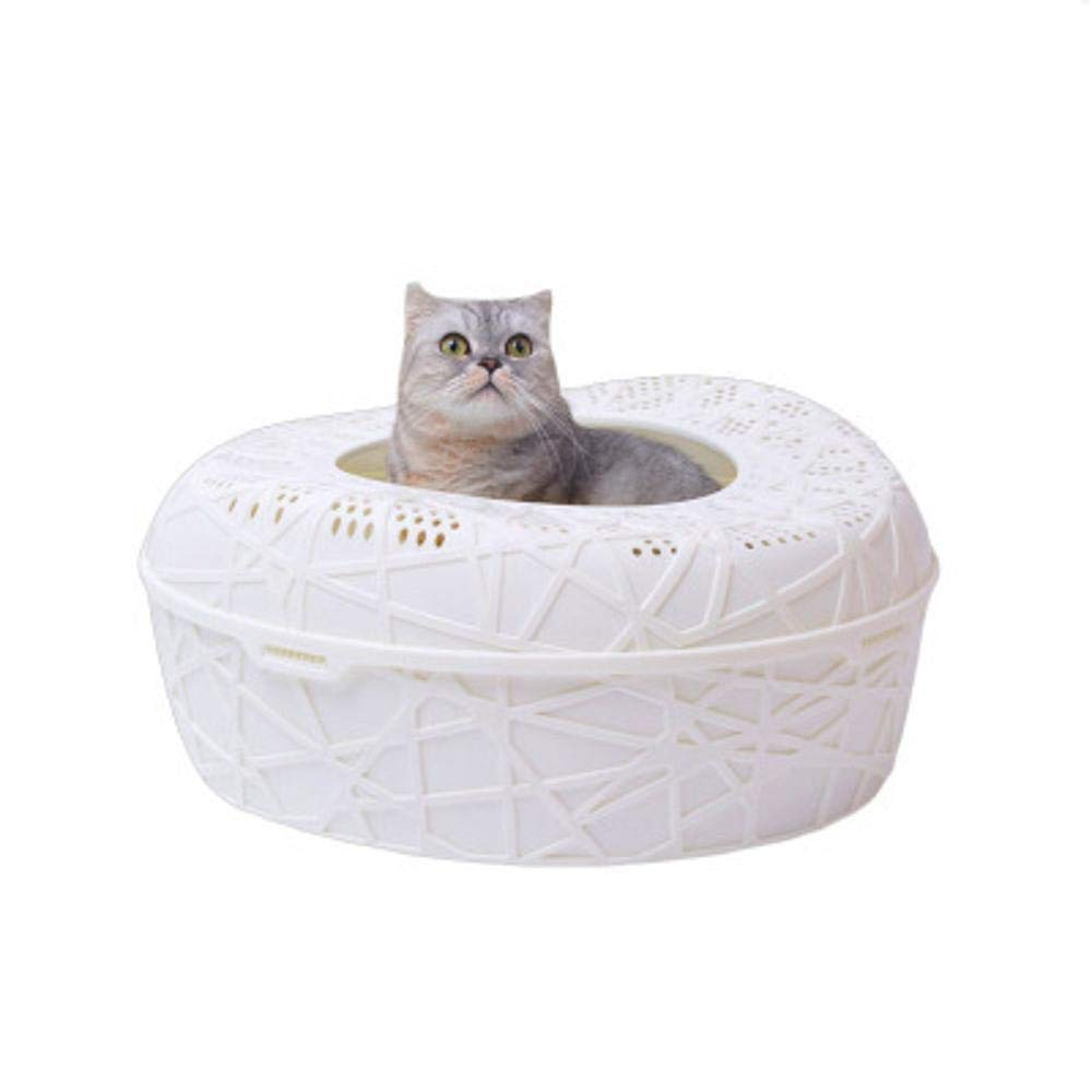 D Axiba Pet toilet Bird's nest cat sand basin leaking sand prevention cheap half open cat toilet