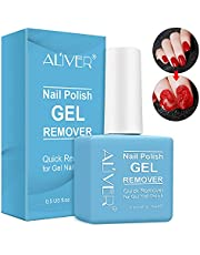 Nail Polish Remover, Gel Remover For Nails In 1-5 Minutes - Quick & Easy Gel Polish Remover - No Need For Foil, Soaking Or Wrapping 0.5 Fl Oz.