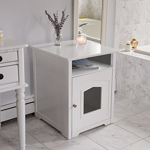 Arf-Pets-Designer-Enclosed-Cat-Litter-Furniture-Box-House-with-Table