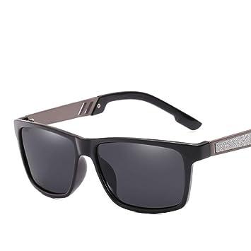 WAQWYQ Gafas Gafas de Sol cuadradas de Moda para Hombre ...
