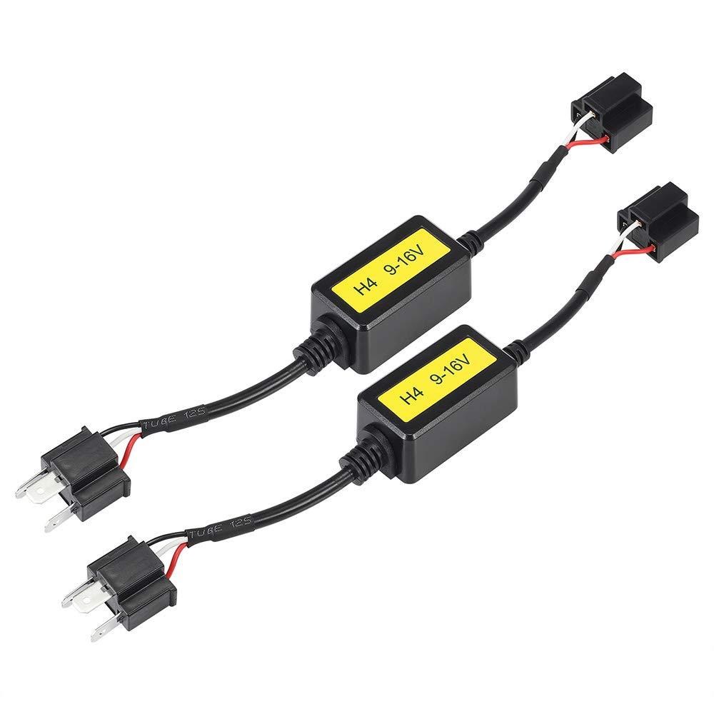 NOVSIGHT 2PCS Dé codeurs de voiture Canbus Anti-Erreur pour H1/H3/H7 LED Ampoules de Voiture