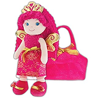 girlzndollz Baby Doll with Purse, Dark Pink/Fushia