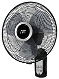 "Kitchen & Housewares : SPT Wall Mount 16"" Fan with Remote Control"
