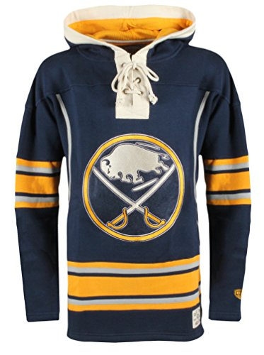 NHL Buffalo Sabres Men's Lacer Heavyweight Hoodie, Small, Navy